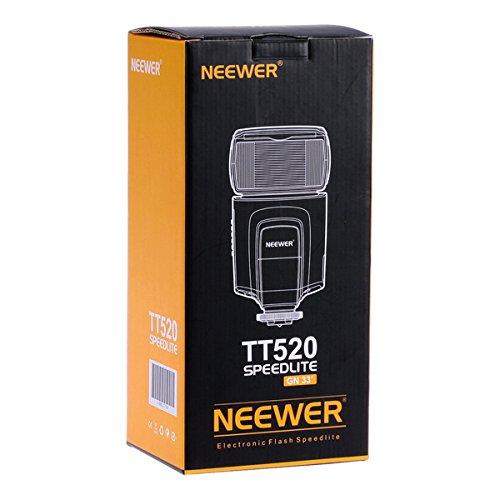 Neewer® TT520 Blitz Speedlite Flash Blitzgeräte für Canon Nikon Panasonic Olympus Pentax Sigma Fujifilm Minolta Leica und anderen Digital SLR Filmkameras und Digitalkameras mit einzelen-Kontakt Blitzschuh, beinhaltet: 4x TT520 Blitzgeräte