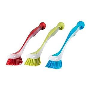 Best Epic Trends 41Qfm7VZSuL._SS300_ IKEA 05247000864 Plastic dishwashing Brush, 3, Multicolored