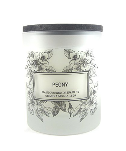 Cereria Molla Hand Poured Luxury Candle ''Peony'' Made in Spain by Cereria Molla