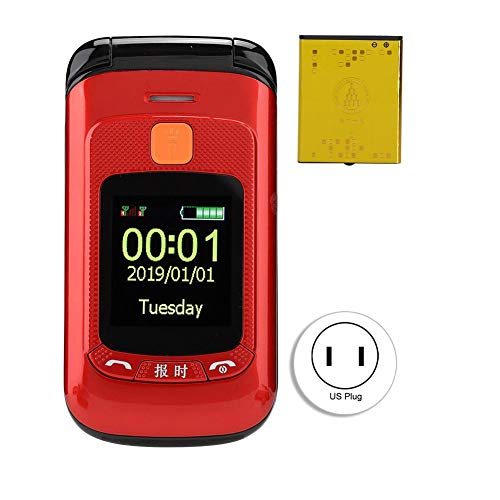 Big Button Flip Mobile Phone for Elderly – 2.4 Inch Touch Screen Senior Flip Mobile Phone, Dual SIM Card Dual Standby…