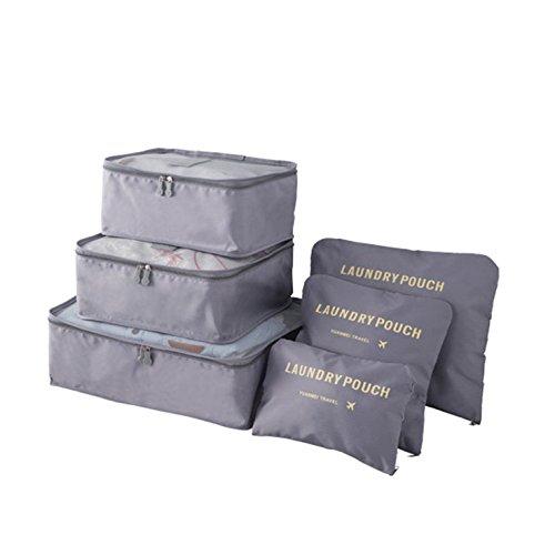 Ucoolbila Travel Storage Bags, Multi-purpose Waterproof Clothing Organizer Bags, Set of 6