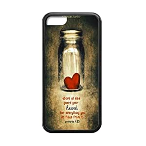 Canting_Good Christian Quote Bible Verses Pattern Print Custom Cases for iPhone 5C TPU (Laser Technology)