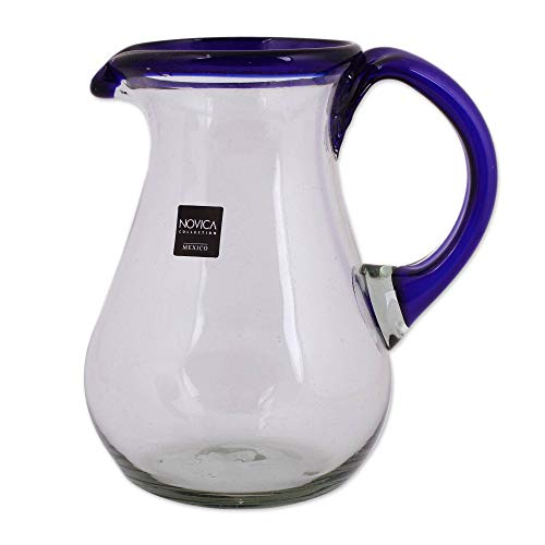 NOVICA 161655'' Blue Grace Glass Pitcher by NOVICA (Image #1)