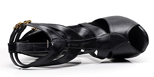 TDA - Zapatos con tacón mujer 8.5cm Heel PU Black