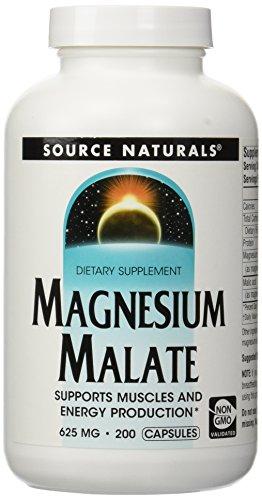 SOURCE NATURALS - Magnesium Malate 625 mg 200 Capsule 200 CA