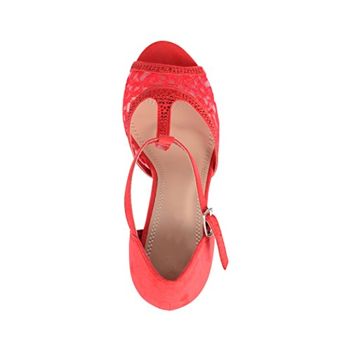 Elara Rouge Elara Escarpins pour Escarpins Femme 4q5nX7x