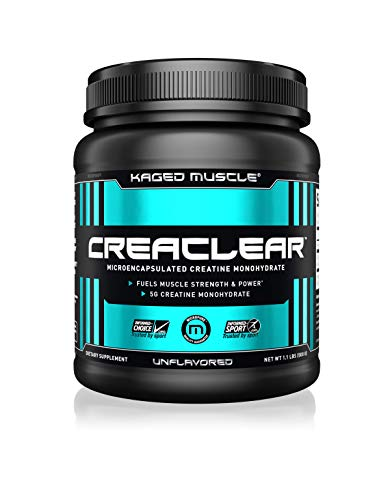 Kaged Muscle CREACLEAR – Microencapsulated Creatine Monohydrate Powder, Improved Solubility – Mixes Clear, 500g, Unflavored