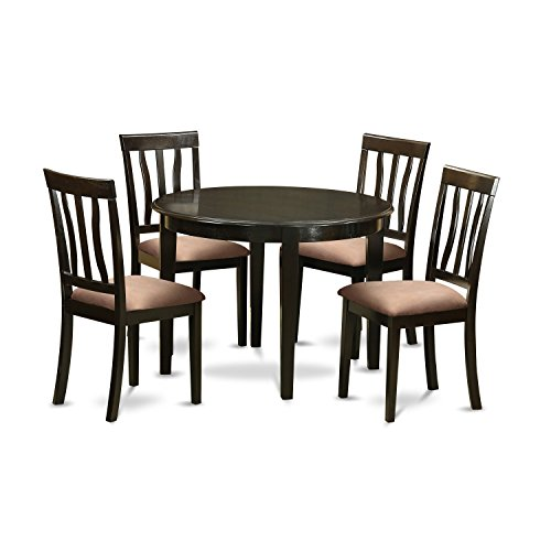 East West Furniture BOAN5-CAP-C 5 Piece Kitchen Table and 4 Small Chairs Set