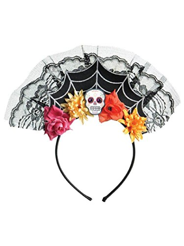 Sugar Skull Tiara Headband Costume Accessory