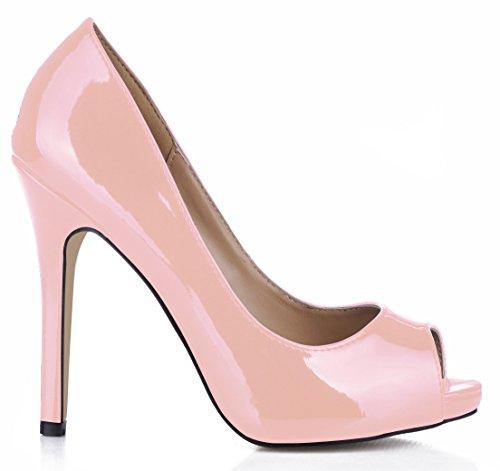 Discotecas Reformador Solo Mujer El Light Pescado Pearl Tinto Fine Gran Pink Zapatos Caen Talón Alto Punta Las Mujeres Degustar De Sentido qwSwY1X