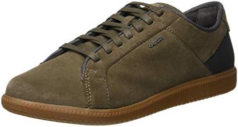 Geox Men's U Keilan D Low Top Sneakers, (TaupeAnthracite