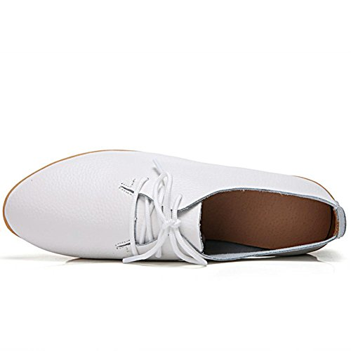 de Zapatos de 1 Cordones para Mujer White Cuero DoraTasia qUtA4gRzg