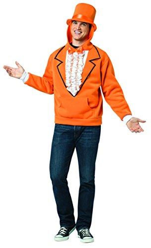 Rasta Imposta Men's Hoodie Dumb and Dumber Orange, Orange, X-Large -