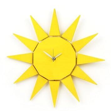 SUN Wanduhr Sonne (gelb)