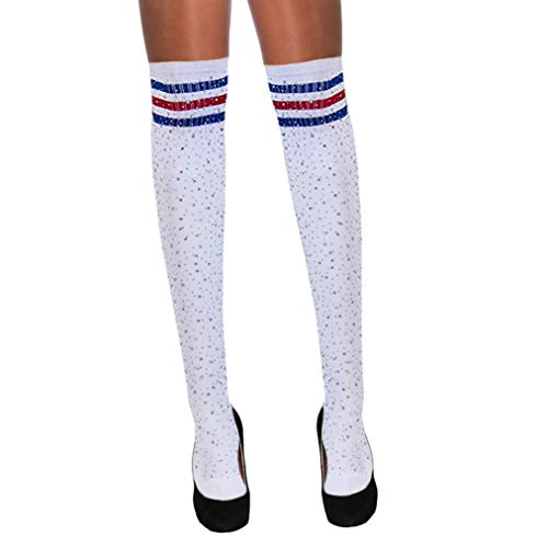 Women's Sparkle Rhinestone Stocking Crystals High Socks Over Knee High Stocking