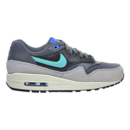 Nike Air Max 1 Essential Women's Shoes Dark Grey/Hyper Jade/Racer Blue/Black 599820-023 (9 B(M) US)