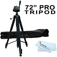 72 Tripod w/Case For The Canon EOS Rebel T5i, EOS SL1, T3i, EOS 600D, T3, EOS 1100D, Canon EOS 5D Mark III, EOS T4i (EOS 650D), Canon EOS M Compact DSLR Camera and Blackmagic Pocket Cinema Camera +