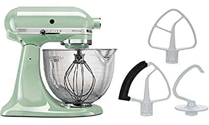 KitchenAid 5-Quart Stand Mixer Glass Bowl Pistachio