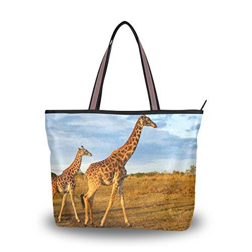 Cooper girl African Wild Giraffe Tote Bag Top Handle Handbag Shoulder Bag Large Capacity