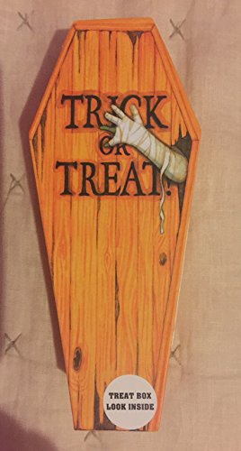 2 Small Coffin Tick or Treat Box (Coffin Shaped Halloween Gift Box)