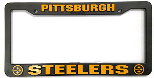 (Pittsburgh Steelers Official NFL 12 inch x 6 inch Plastic License Plate Frame by Rico Industries)