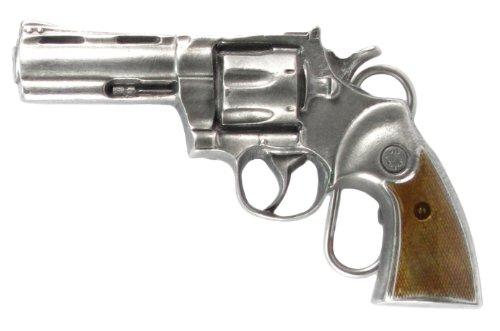 (Pewter Belt Buckle - Revolver - Pewter Belt Buckle)