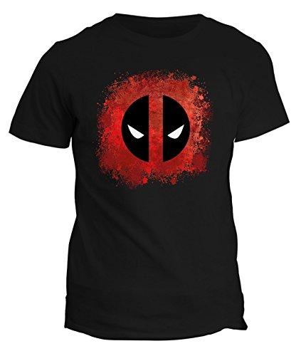 shirt In Cotone Fashwork Deadpool T film Nero By Tshirt Supereroe 77HqWOZ