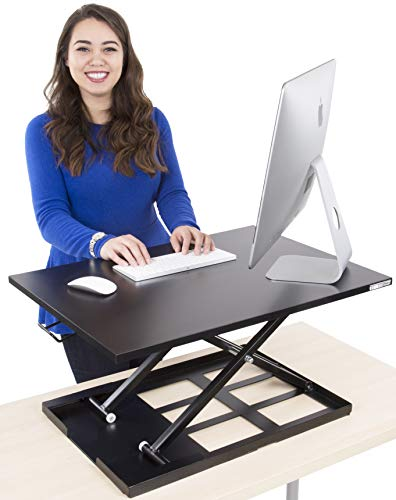 Bypass Tray (Stand Steady Standing Desk X-Elite Standing Desk | X-Elite Pro Version, Instantly Convert Any Desk into a Sit/Stand up Desk, Height-Adjustable, Fully Assembled Desk Converter (Black))