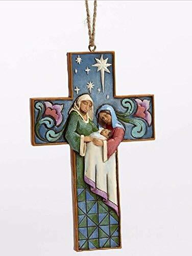(Jim Shore Nativity Cross Ornament)