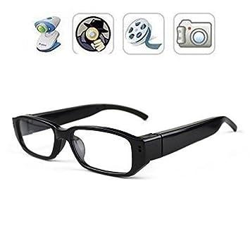 FiveSky 720P HD Espía Gafas Cámara , Gafas con Cámara Mini DV Videocámara Grabador de Vídeo Digital Cámara: Amazon.es: Electrónica