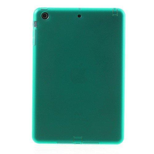 JUJEO Double-Side Matte TPU Gel Cover for iPad Mini/iPad Mini 2 Retina Display with Dust-Proof Plug - Green (IPADM2-607E)