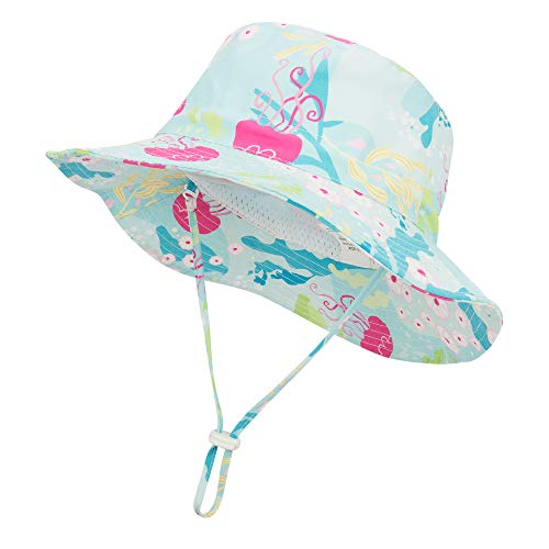 Durio Gifts for Baby Toddler Summer Baby Hats Cute Baby Sun Hat Sun Protection Hats for Baby Girl Kids B Light Blue 21.3