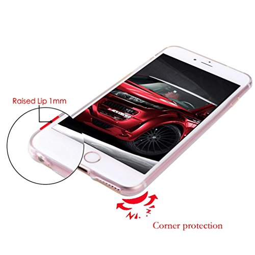 Case iPhone 7 Funda iPhone 8 Carcasa TPU Impresión Suave Ultra Slim / Resistente a los Arañazos Flexible Bumper Case Cover [Ultra-delgado] [Shock-Absorción] Protectora Contraportada Caja del Teléfono  Flores