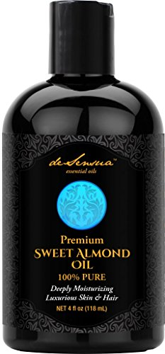 Ayurvedic Warming Massage Oil - Sweet Almond Oil - 100% Pure- Best For Massage, Moisturizing Skin and Hair, & Carrier Oil For Essential Oils, 4 oz