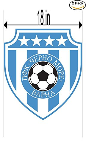 fan products of PFC Cherno More Varna Bulgaria Soccer Football Club FC 2 Stickers Car Bumper Window Sticker Decal Huge 18 inches