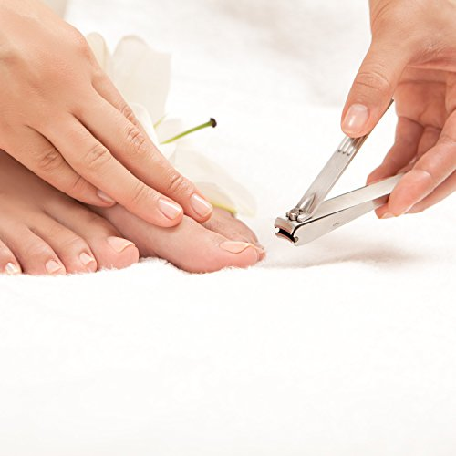 BEST NAIL CLIPPERS FOR MEN - Stainless Steel with Nail Catcher - For Toenails and Fingernails - Very Sharp! by Simply Essentials (Image #1)