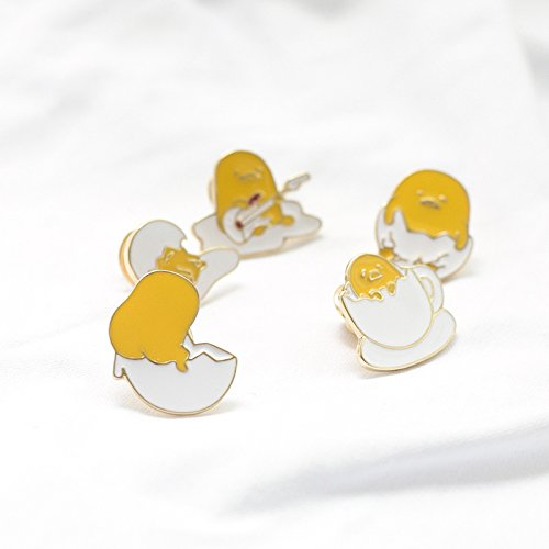 Shell Yellow Brooch - Meng turned! Meng stupid lazybones cute personality lazy Egg yellow egg shell brooch brother Meng pet collar pin brooch