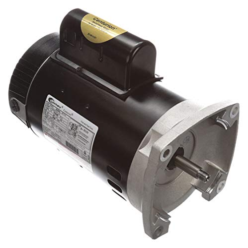 (Century B2853 Square Flange Pool Pump Replacement Motor AO Smith Electric Motor, 1 hp, 3450rpm, 56Y Frame, 115/230 volts)