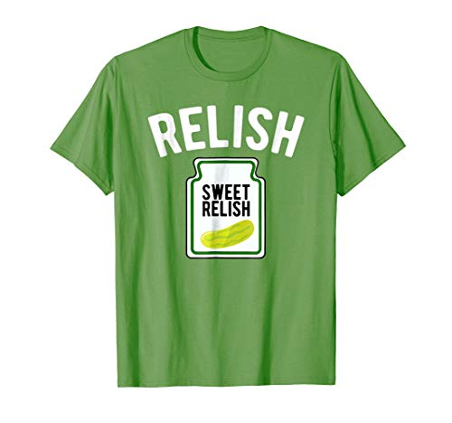Mens Sweet Relish Funny Condiment Halloween Costume T-Shirt XL Grass
