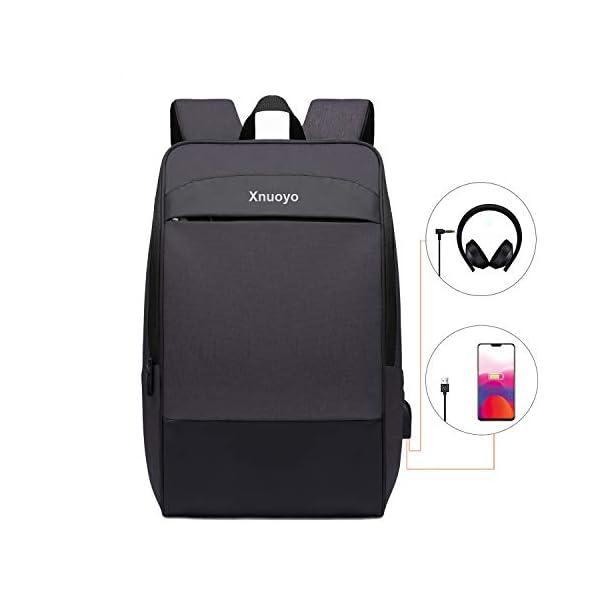 """Xnuoyo Zaino per Portatili 17.3"""" Zaino Laptop Impermeabile di Ricarica USB,Zaino per PC Portatile da Borsa per Lavoro… 1 spesavip"""