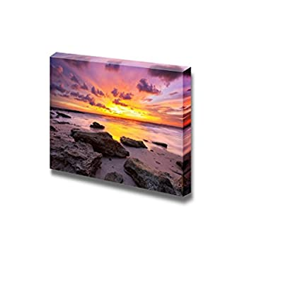 Canvas Prints Wall Art - Tropical Beach at Beautiful Sunset. Nature Background - 12