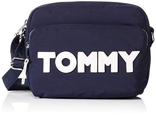 Navy Azul Nylon Bolsos Tommy tommy Crossover Hilfiger Mujer Bandolera w8qqx476Y
