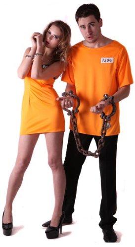 Generique - Disfraz de Pareja de prisioneros Naranja S: Amazon.es ...
