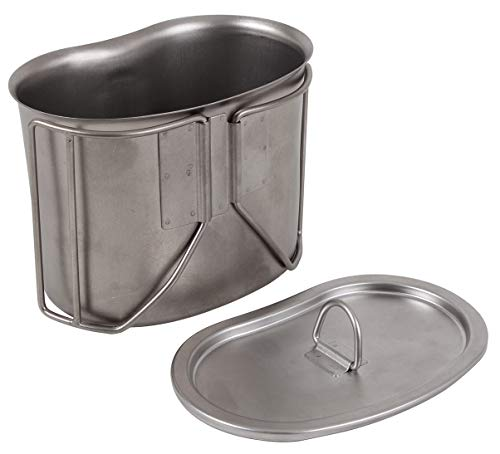 Rothco Stainless Steel Canteen Cup Lid (Type Covers Canteen)