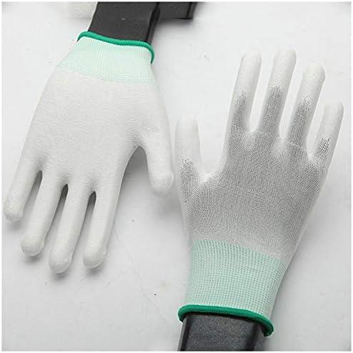 手袋 日常 実用 帯電防止手袋ほこりのないPuコーティングされたパーム手袋浸したポリエステル保護手袋12ペア* 10パックランダムカラーデリバリー (Size : One size, UnitCount : 10 Packs)