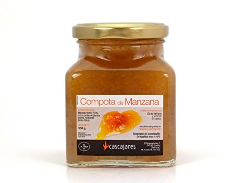 CASCAJARES - Compota de Manzana , guarnición perfecta para cualquier tipo de plato de carne. Bote de cristal de 300 gramos.: Amazon.es: Alimentación y ...