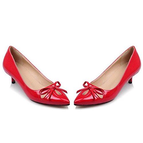 Escarpins Rouge Talon Chaton Coolcept Femmes Chaussures qwWOtccpf