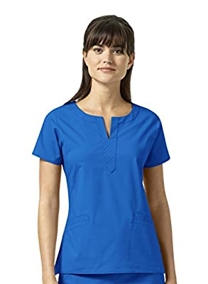 Vera Bradley Signature Collection Women's Linda Notch Neck Quilted Scrub Top