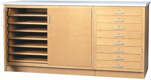 Diversified Woodcrafts SB-4P Paper Storage Cabinet, Northwood's (Shain Wall)