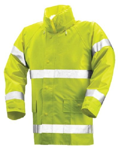 TINGLEY RUBBER High-Visibility Jacket, Lime Yellow PVC On Polyester, Large: Amazon.es: Hogar